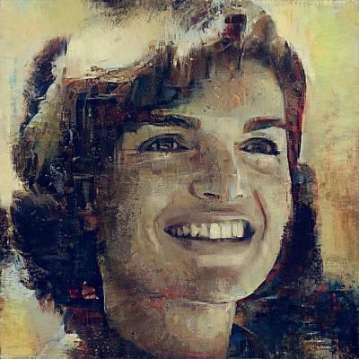 President Kennedy Digital Art - Jacqueline Kennedy Portrait 4 by Yury Malkov