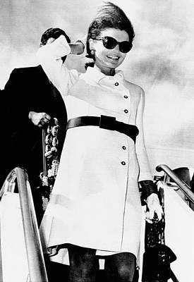 Jacqueline Kennedy, Wearing A White Art Print by Everett