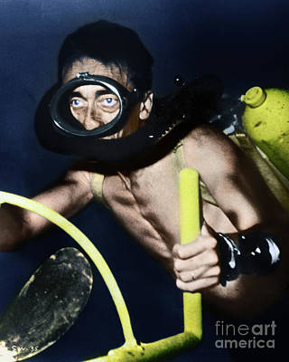 Photograph - Jacques Cousteau by Granger