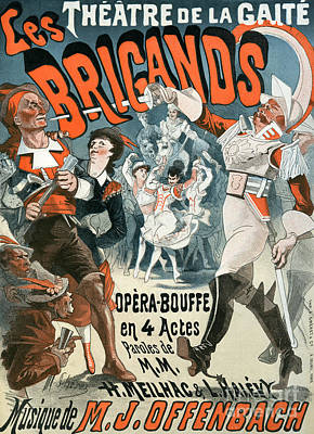 Painting - Jacques Offenbach  Les Brigands Vintage Poster by Jules Cheret