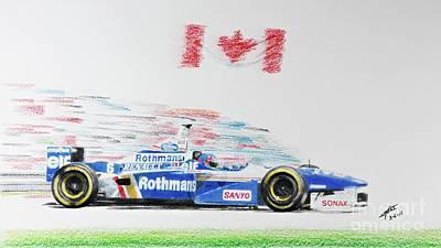 Benetton Wall Art - Drawing - Jacques Villeneuve Williams Fw18 by Lorenzo Benetton