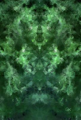 Digital Art - Jade 2 Light Dark 1 by Debora Nash