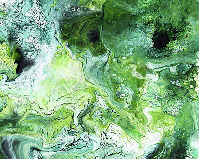 Mixed Media - Jade- Abstract Art By Linda Woods by Linda Woods