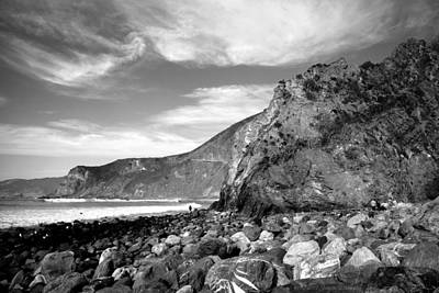 Photograph - Jade Beach View North B And W by Joyce Dickens