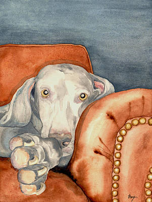 Watercolor Pet Portraits Painting - Jade by Brazen Design Studio