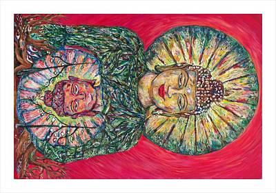 Jade Buddah Art Print by Joseph Lawrence Vasile