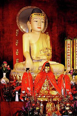 Statue Photograph - Jade Buddha Jing'an Temple Shanghai by Christine Till