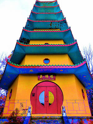 Bhutan Painting - Jade Buddha Pagoda 1 by Lanjee Chee