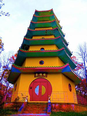 Tibetan Buddhism Painting - Jade Buddha Pagoda 2 by Lanjee Chee