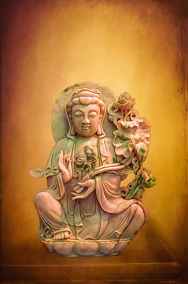 Photograph - Jade Buddha Statue by Maria Coulson