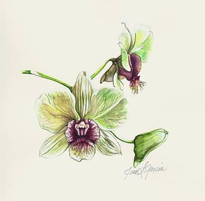 Painting - Jade Dendrobium by Joan Garcia