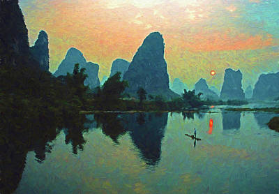 Photograph - Jade Dragon River Sunrise by Dennis Cox ChinaStock