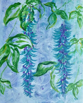 Painting - Jade Flower by Kathryn Rone