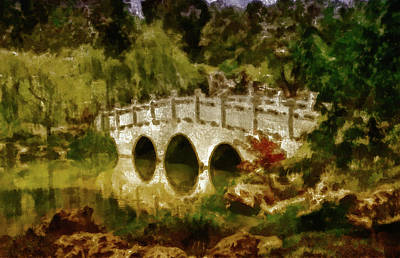 Mixed Media - Jade River Bridge by Joseph Hollingsworth