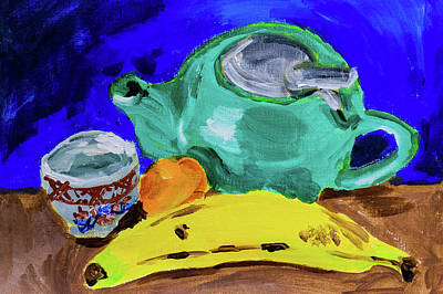 Japanese Ceramics Painting - Jade Teapot  by Stephanie Berry