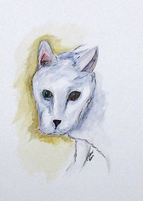 Painting - Jade The Cat by Clyde J Kell