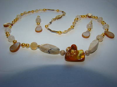 Silver-filled Jewelry - Jaded Citrine Pearl by Deborah Lynch