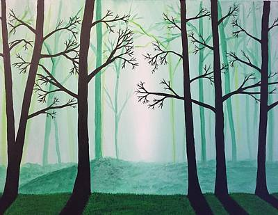 Painting - Jaded Forest by Chris Bishop