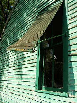 Jaded Window Shade Art Print by Joy Tudor