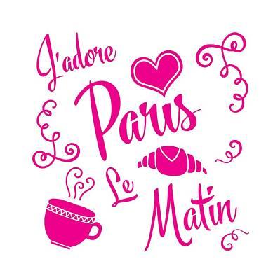 Paris Shop Digital Art - J'adore Paris Le Matin by Antique Images