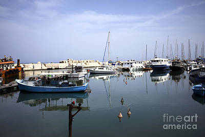 Photograph - Jaffa Boat Reflection by John Rizzuto