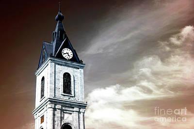 Jaffa Photograph - Jaffa Clock Tower Infrared by John Rizzuto