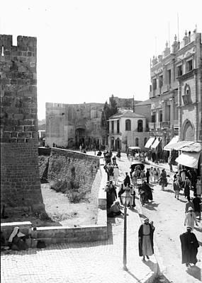 Photograph - Jaffa Gate 1900 by Munir Alawi