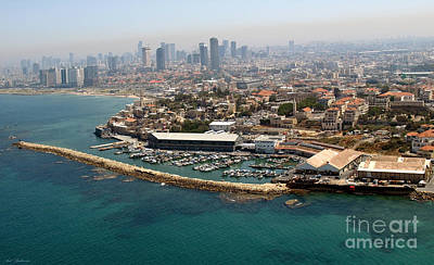 Aerial Photograph - Jaffa Port by Arik Baltinester