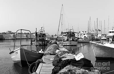 Photograph - Jaffa Port Dock by John Rizzuto