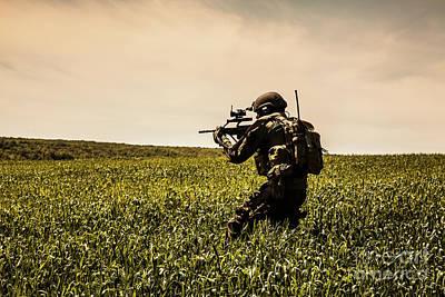 Recon Photograph - Jagdkommando Austrian Special Forces  by Oleg Zabielin