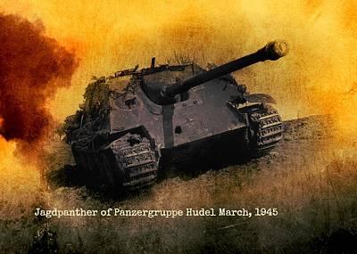 Art Print featuring the digital art Jagdpanther German Ww2 Tank by John Wills