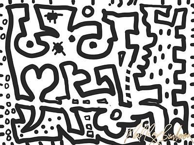 Digital Art - Jagged Hearts Rising by Neal Barbosa