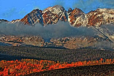 Art Print featuring the photograph Jagged Peaks Fall by Scott Mahon