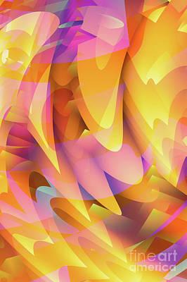 Artistic Digital Art - Jagged Peaks by John Edwards