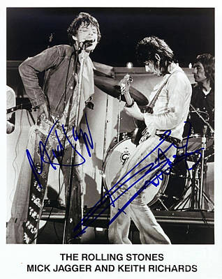 Mick Jagger And Keith Richards Photograph - Jagger And Richards by Pd