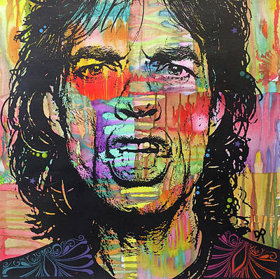 Rolling Stones Wall Art - Painting - Jagger Like A Rainbow by Dean Russo Art