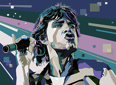 Keef Digital Art - Jagger  by Mal Bray