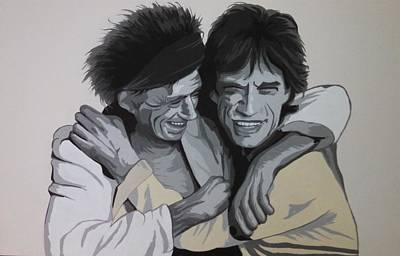 Mick Jagger And Keith Richards Painting - Jagger/richards by Ken Jolly