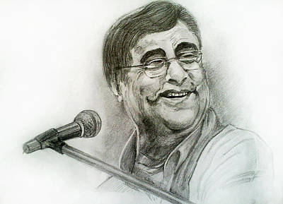 Painting - Jagjit Singh by Mayur Sharma