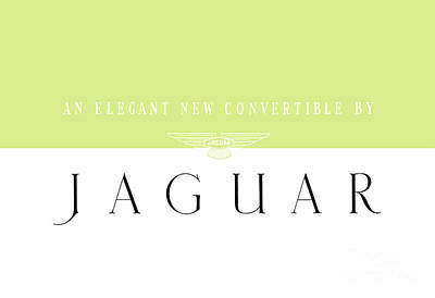 Mixed Media - Jaguar An Elegant New Convertible Classic Brochure by R Muirhead Art