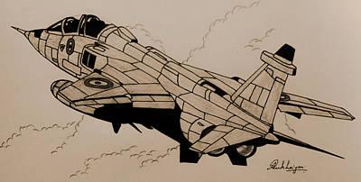 Raf Drawing - Jaguar by Ankit Rukhaiyar
