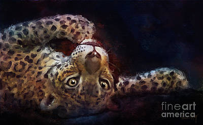 Endearing Digital Art - Jaguar Artwork 5023 by Linda King