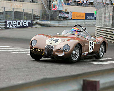 Photograph - Jaguar C-type At Monaco by Steve Natale