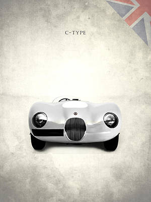 Car Photograph - Jaguar C-type by Mark Rogan