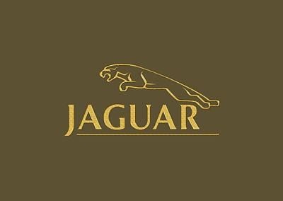 Digital Art - Jaguar Car Logo by Carlos Diaz