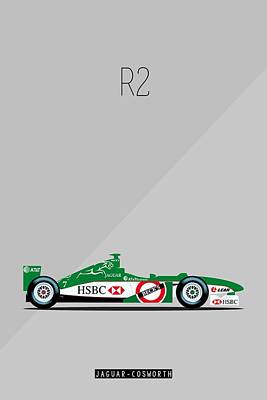 Painting - Jaguar Cosworth R2 F1 Poster by Beautify My Walls