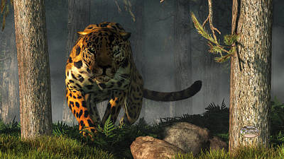 Digital Art - Jaguar by Daniel Eskridge