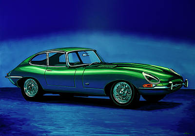 Painting - Jaguar E-type 1967 Painting by Paul Meijering