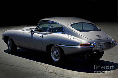 Photograph - Jaguar E-type Nocturne by Curt Johnson
