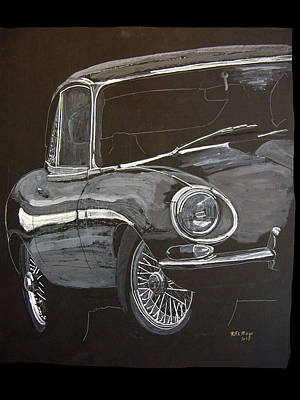 Painting - Jaguar E Type by Richard Le Page
